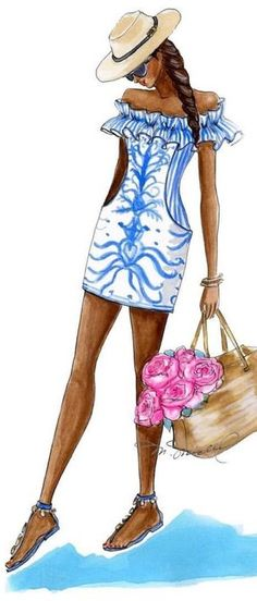 m.michel fashion illustration