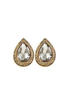 Elizabeth Teardrop Earrings in Black Diamond//