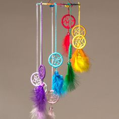 Small mobile dreamcatcher with feathers by Memoriesdreams on Etsy