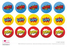 Free Superhero Party Printables Cupcake Toppers | CatchMyParty.com