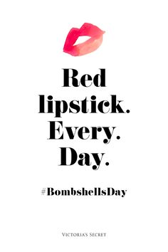 Not really into the bombshell thing, but red lipstick sounds a okaay!