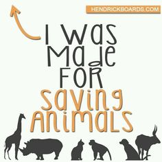 Saving animals is my true calling. Just gotta find a way to use it.