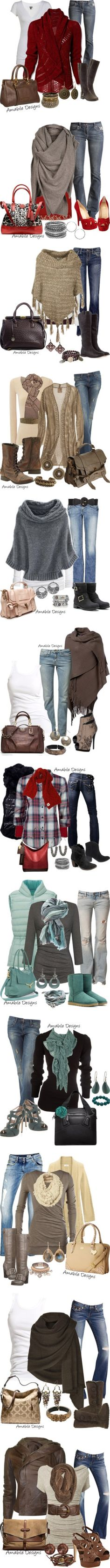 """""""Casual Wear (colder weather)"""" by amabiledesigns ❤ liked on Polyvore"""