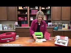 Spellbinders Education Director Kim Hupke shows how to use the Cuttlebug with Spellbinders Edgeabilities die templates to cut and emboss