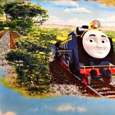 "THOMAS THE TANK ENGINE STEAM TEAM JAMES PERCY QUILTING COTTON FABRIC 23/"" REMNANT"