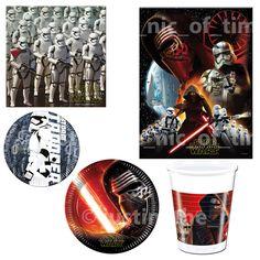 STAR WARS The Force Awakens Birthday Party Tableware Adult Boys Kids Children  #StarWars #BirthdayChild