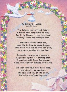 Baby girl congratulations quotes mothers 56 ideas for 2019 New Baby Poem, Baby Girl Poems, New Baby Quotes, Baby Girl Born, Baby Girl Cards, New Baby Girls, Baby Sayings, Newborn Quotes, Mother Quotes