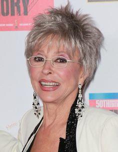 Rita Moreno and short gray hair