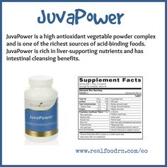 JuvaPower is a high antioxidant vegetable powder complex and is one of the richest sources of acid-binding foods. #JuvaPower is rich in liver-supporting nutrients and has intestinal cleansing benefits.