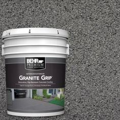 Galaxy Quartz Decorative Flat Interior/Exterior Concrete Floor - The Home Depot Bring a stunning and new look to your floor with this durable BEHR Premium Galaxy Quartz Decorative Concrete Floor Coating. Concrete Floor Coatings, Concrete Bricks, Concrete Stone, Concrete Resurfacing, Painted Concrete Porch, Stamped Concrete, Painted Decks, Concrete Refinishing, Driveway Resurfacing
