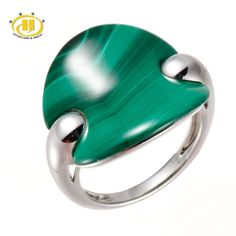 Malachite Solid 925 Sterling Silver Ring