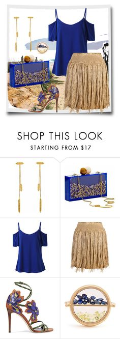 """""""In the Tropics"""" by easy-dressing ❤ liked on Polyvore featuring Annabelle Lucilla Jewellery, Yoanny García, Claire Andrew, Jimmy Choo, Aurélie Bidermann, fringe, WhatToWear, polyvoreeditorial, coldshoulder and plus size clothing"""