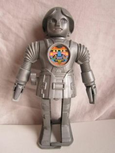 "Vintage Buck Rogers 7"" Wind Up Walking Twiki Robot not Working 1970's Toy 