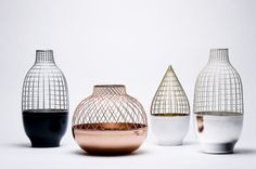 Home design ideas / Home inspirations |  Grid family: a vase collection manufactured by Turkish artisans.