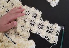 Crochet Bedspread Pattern, Crochet Motif Patterns, Bead Embroidery Patterns, Crochet Basket Pattern, Baby Knitting Patterns, Crochet Designs, Crochet Flower Tutorial, Crochet Instructions, Hand Embroidery Videos