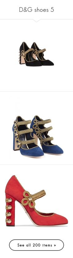 """D&G shoes 5"" by alina-chipchikova ❤ liked on Polyvore featuring shoes, pumps, black, black chunky heel shoes, black high heel pumps, thick heel pumps, leather shoes, black chunky heel pumps, blue high heel pumps and high heel shoes"