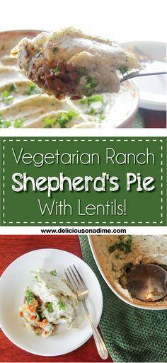 Vegetarian Ranch Shepherd's Pie - with Lentils