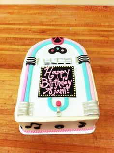 Juke Box Cake! By baked on oceanview in Montrose, CA