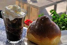 Risultati immagini per brioche e granita sicilia Granita, Healthy Dinner Recipes, Pudding, Desserts, Food, Brioche, Sicily, Tailgate Desserts, Deserts