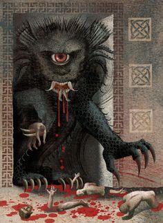Ilustración para el libro Beowulf, publicado por Black Cat Publishing. Balbusso 2013. Anna + Elena = Balbusso (A beautiful history)...