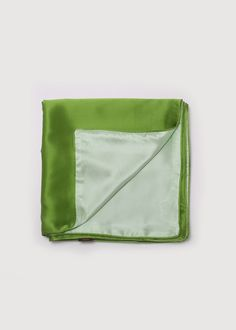 100% Mulberry Silk Bedding Set Green/ 100% Maulbeer-Seide Bettwäsche Set Grün