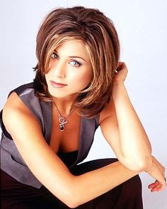 Classic hair cut on Jennifer Aniston