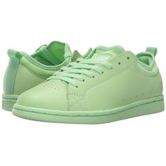 DC Magnolia (Pistachio Green) Women's Skate Shoes ($65) ❤ liked on Polyvore featuring shoes, skate shoes, green shoes, vintage looking shoes, print shoes and patterned shoes