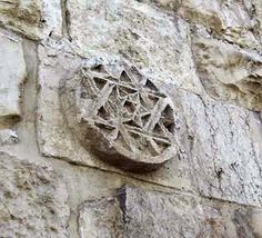 Star of David appears on at least four reliefs in the wall of Jerusalem& Old City. Actually it is a six-pointed star which is called by M. Jerusalem Israel, Arte Judaica, King David, Old And New Testament, Star Of David, Holy Land, Judaism, Old City, The Covenant