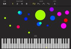 An online music maker. Choose the note on the keyboard and then draw the melody on the screen.