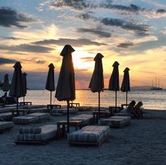 Sunset at the best Glyfada beach, this is Asteras in Glyfada (Picture by Balux Cafe: The House Project/Facebook)