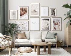 Calm Paradise gallery wall Gallery, Room Color Schemes, Online Wall Art, Gallery Wall, Living Room Art, Scandinavian Design, Interior Design Styles, Inspiration Wall, Bedroom Inspiration Cozy