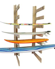SURF DIVE 'N' SKI - SURF - SURFBOARD RACKS - 7 PADDLE BOARD RACK (PLYWOOD) BY SOLID RACKS