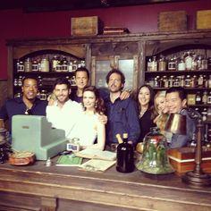The whole Grimm gang in the Spice Shop Grimm Cast, Nbc Grimm, Grimm Tv Series, Grimm Tv Show, Detective, Portland, Nick Burkhardt, David Giuntoli, Spice Shop