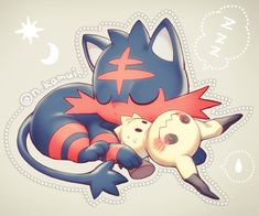 Litten and Mimikyu