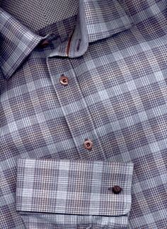 Mens Dress Shirts French Cuff and Designer French Cuff Dress Shirts For Men from Luchiano Visconti, Ben Sherman and more. Man Shirt, Shirt Cuff, Tied Shirt, Men's Shirts, Cool Shirts, Casual Shirts, Mens Sport Coat, Sport Coats, Men Dress