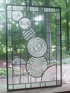 stained glass panel window ~ I ♥ this!!!