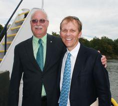 Art Carson and John Ingram at the christening.  It was John's idea to   re-christen the towboat the M/V Arthur J. Carson... thank you John! Nashville, September 2010