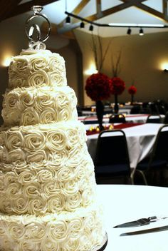 not this big, but this was the design I was talking about.   Winter Wedding Cake