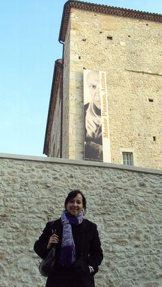 Leila ENGELS (née en 1969) peintre.  Antibes, Musée Picasso (Photo: Thierry de Bruma)