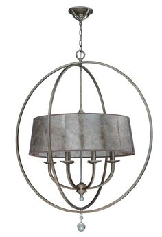 "Eight Light Chandelier - Jeremiah Windsor Athenian Obol finish 36""w x 34""h $598"
