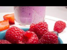 Milkshake cu fructe de pădure - YouTube Raspberry, Deserts, Youtube, Food, Essen, Postres, Meals, Raspberries, Dessert
