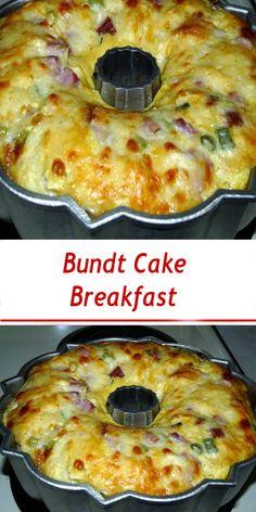 Bundt Cake Breakfast Clean Breakfast, Bacon Breakfast, Best Breakfast Recipes, How To Make Breakfast, Breakfast Dishes, Breakfast Casserole, Brunch Recipes, Breakfast Ideas, Blueberry Breakfast