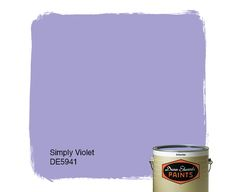 Dunn-Edwards Paints color: Simply Violet DE5941 | Click for a free color sample. #DunnEdwards