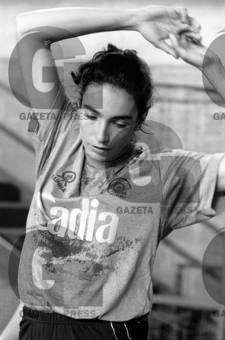 Isabel, jogadora da seleção brasileira, durante os testes ergométricos e antopométricos para a disputa do Campeonato Sul-americano de 1989, na Colômbia, visando a Copa do Mundo de 1989, no Japão.