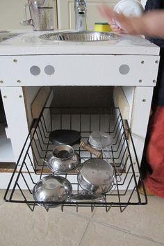 Upcycling Kinderküche Selber Bauen DIY Recycling Spülmaschine