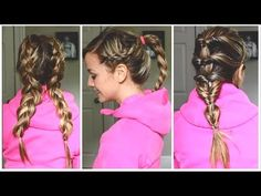 workout hairstyles for short hair Active Hairstyles, Heatless Hairstyles, Sporty Hairstyles, Workout Hairstyles, Quick Hairstyles, Headband Hairstyles, Hair Tutorials For Medium Hair, Medium Hair Styles, Curly Hair Styles