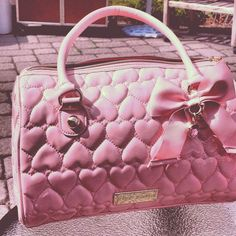 Image about girl in bags by M on We Heart It Handbags On Sale, Luxury Handbags, Purses And Handbags, Betsy Johnson Purses, Betsey Johnson Bags, Backpack Purse, Coin Purse, Cute Purses, Pink Purses