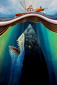 Jaws Movie, I Movie, Cthulhu, Le Kraken, Megalodon, Great White Shark, Just Go, Horror, Gallery