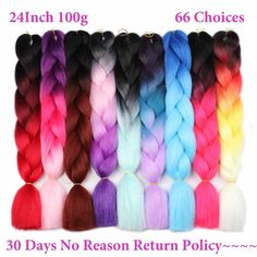 Hair Braids Hair Extensions & Wigs Spirited Razeal 24 165g Jumbo Braids Braiding Hair Kanekalon Braiding Hair Pure Color Synthetic Hair Extensions Crochet Braids 1 Pack
