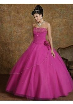 08168c4417ab3 Ball Gown Strapless Floor-length Tulle Quinceanera Dresses #CUSA002238  Cheap Quinceanera Dresses, Affordable